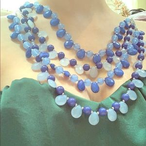 Eye Catching Shades of Blue Necklace